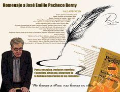 ¡Como olvidarlo! Homenaje a José Emilio #Pacheco /#Escritor #Poeta #Literatura #OrgullodeMéxico