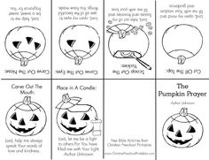 Christian Halloween Coloring Pages Jesus Coloring Pages, Pumpkin Coloring Pages, Sunday School Lessons, Sunday School Crafts, Halloween Coloring Sheets, Christian Halloween, Childrens Sermons, Fall Preschool, Preschool Crafts