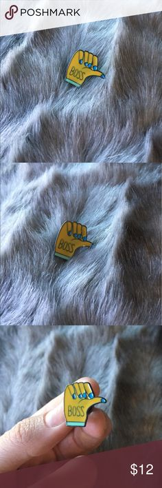 MONDAY SPECIAL! Boss Hand Pin YOU ROCK, GIRL! ENJOY A MONDAY DISCOUNT ON THIS BADA$$ PIN! Who has an opposable thumb and is the boss? Thumbs up! Nail polish Other