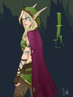 Alleria Windrunner by Nerekat on DeviantArt World Of Warcraft 3, Warcraft Art, Dnd Characters, Disney Characters, Fictional Characters, Blood Elf, New Fantasy, Image Fun, Wow Art