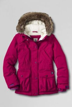 Canada Goose chateau parka online authentic - Girls' Solid Stormer System 3-in-1 Parka from Lands' End | Kids ...