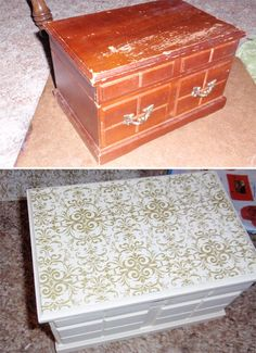 Jewelry box totally taken apart and refinished This was my first
