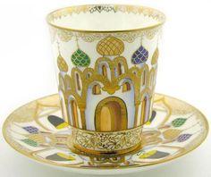 Lomonosov russian cup and saucer