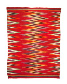 Navajo Wedge Weave Serape, circa 85 inches long by 65 inches wide, as woven. Photograph by Joshua Baer Native American Blanket, Native American Rugs, Native American Patterns, Native American Artifacts, American Indian Art, Navajo Weaving, Navajo Rugs, Hand Weaving, Indian Textiles