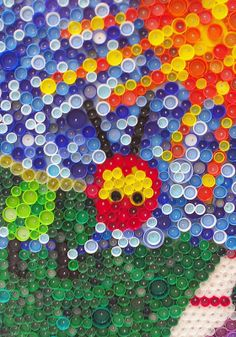 Bottle Cap Art Mural | And some close-ups...