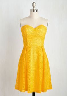 That's a Rapt! Dress. 'Bliss' is it - the cocktail dress for which youve been waiting! #yellow #modcloth