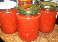 Canned three quarts of spaghetti sauce this morning. Roma's are amazing! Greek Recipes, Kitchen Hacks, Cooking Time, Food Storage, Food Hacks, Preserves, Family Meals, Food To Make, Food And Drink