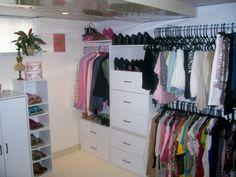 walk in closet, basement renovation , Closets Design