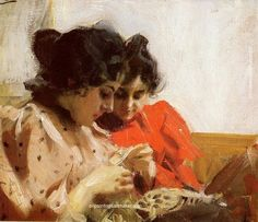 Anders Zorn Spetssom, 1894, painting