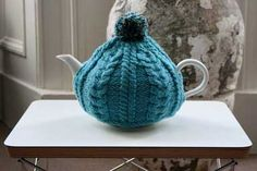 Scottish Gifts - Hand Knitted Tea Pot Cosy by Kate - Designer
