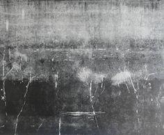 Original 10x12 Nautical Night Landscape Monotype Black