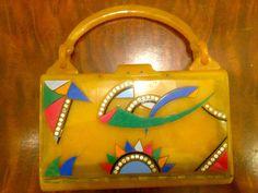 Vintage Bakelite Art Deco Purse