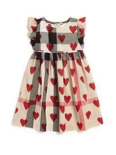 Burberry - Baby's & Toddler Girl's Heart-Print Check Dress