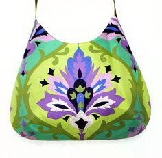 Psychedelic shoulder bag green and purple