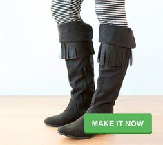 Fringe Boots. Make It Now in #Cricut Design Space