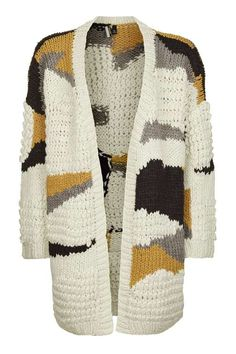 Hand Knitted Patchwork Cardigan