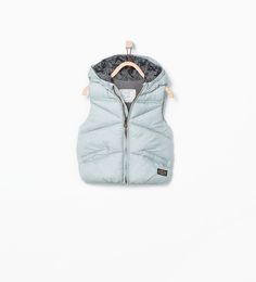 Hooded waistcoat with pockets-Coats-Baby boy | 3 months - 3 years-KIDS | ZARA United States