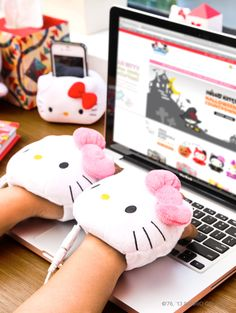 "Hello Kitty. More Cool Stuff at ""Geek Home and Holiday"" http://www.pinterest.com/SuburbanFandom/geek-home-and-holiday/"
