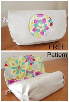 FREE clutch bag sewing pattern. This wristlet clutch bag has a reverse applique circle design on the front flap to allow your favorite print to be the center of attention. This is a quick and easy sewing pattern for a simple clutch bag purse with magnetic snapc closure. Instructions available to add wallet style pockets inside too. #ClutchBagSewingPattern #FreeBagPattern #FreeSewingPattern #EasySewingPattern #FreeClutchBagPattern #QuickSewingPattern #SewingForBeginners