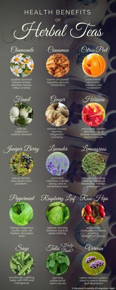 Health Benefits of Herbal Teas - herbal remedies, tea, herbs