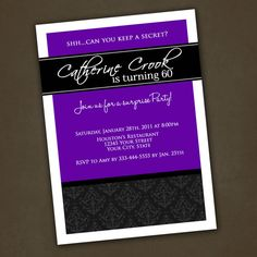 Adult Birthday Invitations Printable File by PinkSkyPrintables, $12.00