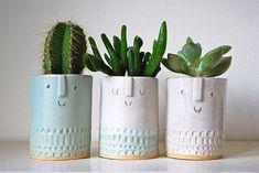 These little plant pots are so cute!! Atelier Stella ceramics- http://atelierstella.bigcartel.com/