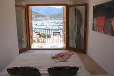 The first floor of Casita Sal de Mar, Port de Soller, Mallorca. A bed with a view... www.sollersecrets.com