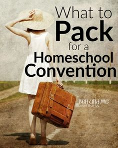 I'm a grab it and go kind of packer, so there's not a lot on this list — just the essentials for homeschool convention success.