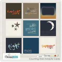 Counting Stars InstaLife Cards