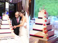 What a gorgeous cake by Palermo's Bakery for this #NJWedding at The Seasons of Washington Township!