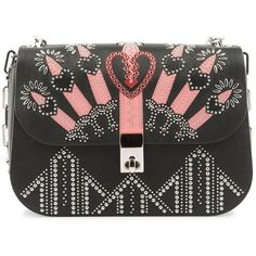 Valentino Bag Love Blade Embellished (€2.065) ❤ liked on Polyvore featuring bags, handbags, shoulder bags, beaded purse, valentino handbags, crossbody chain purse, crossbody purse and beaded handbags