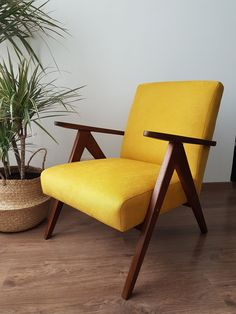 Yellow Armchair, Retro Armchair, Velvet Armchair, Wooden Armchair, Living Room Green, Living Room Chairs, Mustard Chair, Contemporary Armchair, Contemporary Hallway