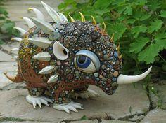 Anya Stasenko and Slava Leontyevporcelain sculptures Lots more cute creatures via link!