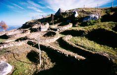 Castro de Castromao Sito no cume dun outeiro, goza dunhas vistas espléndidas do val do río Arnoia. Configúrase como un recinto fortificado propio da Idade do Ferro (s. VI a.C.), na etapa histórica coñecida como cultura castrense. Sufriu unha forte romanización que se foi estendendo co paso do tempo ao longo da zona que rodea o monte. As primeiras noticias do depósito téñense en 1875, e a partir de entón sucédense distintas escavacións que irán destapando restos de estruturas habitacionales…