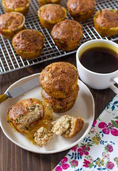 Breakfast Recipe:  Savory Muffins with Prosciutto & Chives   Recipes from The Kitchn