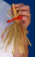 In Norway wheat is braided into different patterns and shapes for decorating the house and Christmas tree