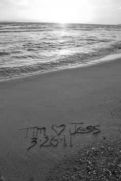 U go PRINT Black n White Any Message You'd Like Written in REAL Beach Sand Personalized JPEG Download UNiQUE Wedding Anniversary Birthday. $25.50, via Etsy.