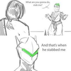 "This is the story of how Hanzo ""killed"" Genji."
