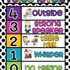 Here is an excellent product I use in my classroom to control voice levels. I have this poster laminated and hung up on my board. I use a clothespi...