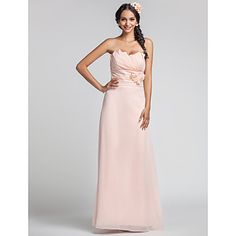bainha / coluna namorada do assoalho-comprimento vestido de dama de honra chiffon (568.344) – EUR € 73.99
