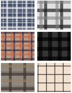 Retro Plaid Fabric by Eto http://www.spoonflower.com/collections/151021