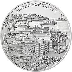 Buques en el Puerto de Trieste, Austria-Hungría