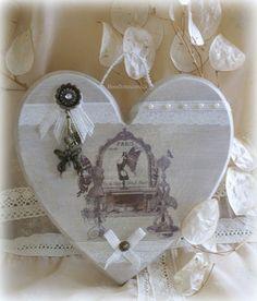 Chantournage - Grand coeur aux papillons