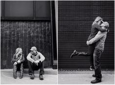 Denver Engagement Photos | Plum Pretty Photography | Urban Engagement Photos | Black & White