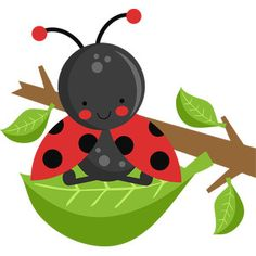 Silhouette Design Store - View Design ladybug on twig Flower Silhouette, Silhouette Design, Insect Crafts, Scrapbook Images, Baby Room Diy, Class Decoration, Cute Clipart, Minnie Mouse Party, Hoppy Easter