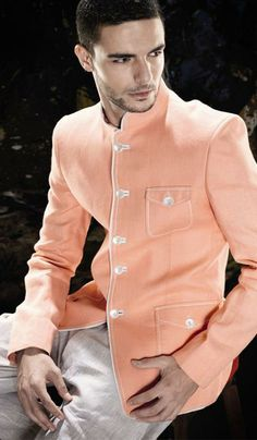 G3 Fashions Peach Linen Party Wear Designer Blazer. Product Code : G3-MC10100 Price : INR RS 9810