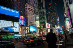 A Night Walk in Manhattan