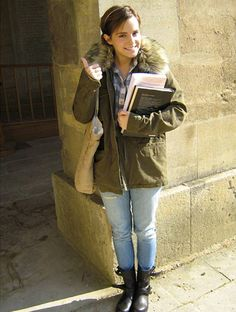 Emma Watson studies abroad at Oxford...and looks like a fashion icon. Ten Points to Gryffindor.
