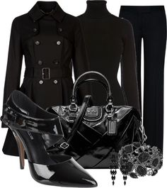"""""""Black as Night"""" by happygirljlc ❤ liked on Polyvore"""