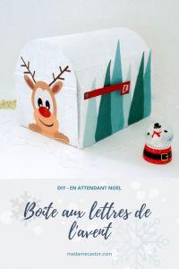 DIY Calendrier de l'avent - boîte aux lettres + printable - Madame Castor